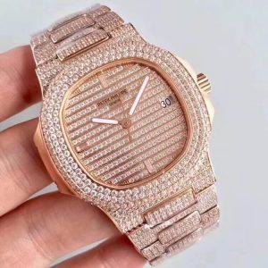 Đồng hồ Patek Philippe Fake 1-1 Nautilus 5711G Full Kim