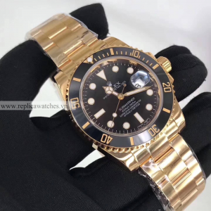 Rolex Submariner Fake Cao Cấp Mạ Vàng 18k