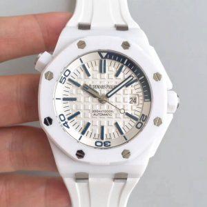 Audemars Piguet Oak Offshore Diver In White Ceramic Fake 1-1 Cao Cấp
