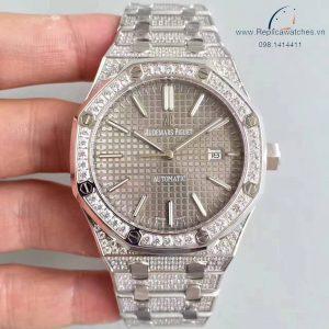 Audemars Piguet Royal Oak Grey Full Diamond Fake 1-1 Cao Cấp