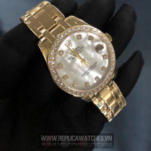 Đồng Hồ Rolex Datejust Vàng Khối 18k Kim Cương Thiên Nhiên