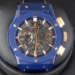 Đồng Hồ Hublot Fake 1-1 Chronograph Mykonos Blue