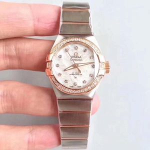 Đồng Hồ Omega Replica 1-1 Stainless Clock Steel Blanc