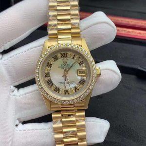 Rolex Oyster Perpetual Lên Vàng Khối 18K Kim Cương Thiên Nhiên