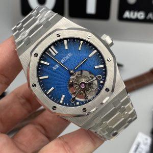 Đồng Hồ Audemars Piguet Tourbillon Extra-Thin Blue Fake 1-1 Siêu Cấp