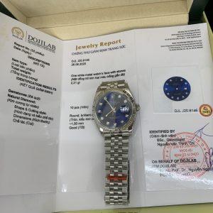 Rolex Datejust 126284rbr Blue Kim Cương Thiên Nhiên