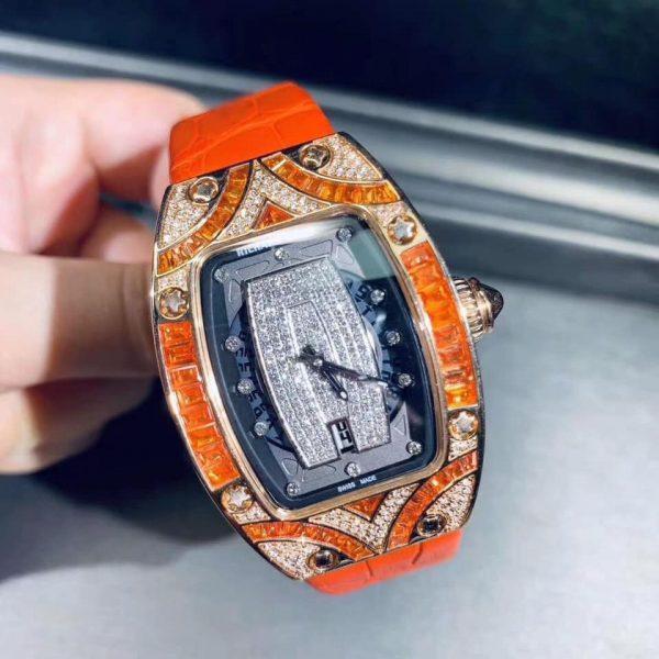 Richardd Millee RM007  Orange Chế Tác Vàng Khối 18K Kim Cương Thiên Nhiên