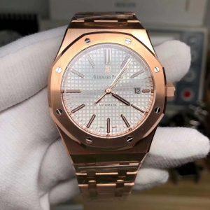 Đồng Hồ Audemarss Piguett Super Fake 1-1 Pink Gold15400OR
