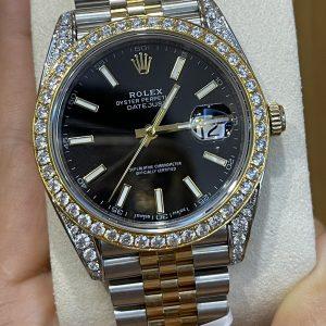 Đồng Hồ Rolex Datejust 41 126333 Độ Kim Moissanite