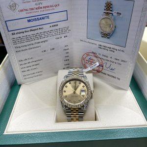 Đồng Hồ Rolex Datejust 126333 Độ Kim Cương Moissanite