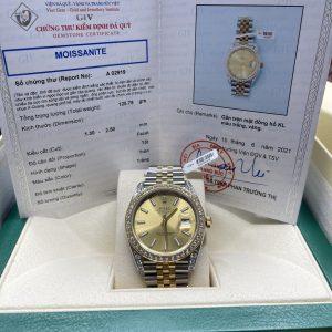 Đồng Hồ Rolex Datejust 126333-0010 Độ Kim Cương Moissanite