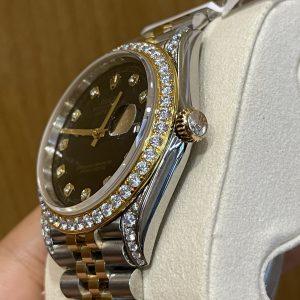 Đồng Hồ Rolex Datejust Demi Bọc Vàng Kim Cương Moissanite