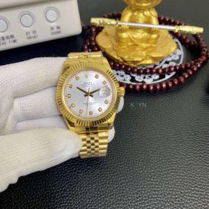 Rolex Datejust Độ Vàng khối 18k Kim Cương Thiên Nhiên
