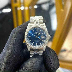 Đồng Hồ Rolex Chế Tác Full Kim Cương Thiên Nhiên